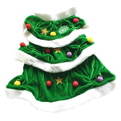 Hunde Weihnachtsbaum Für Kostüm - Balacoo Haustier-Kostüm für Hunde, Weihnachtsbaum, für Cosplay, Kleidung für Welpen, kleine Hunde, Katzen, Grün, Größe S