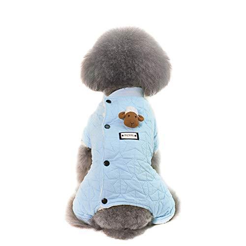 iche Baumwolle Tiere Hund Katze Sweatshirt Mantel Kleidung Warm Herbst und Winter Welpen Sicherheit Pullover Outfit Kleidung, x-Large ()