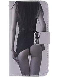 Funda de piel para Samsung Galaxy S6, Diseño Árbol, con función atril, tarjetero y ranura para carnés, magnética, piel sintética, Sexy Girls, Sony Xperia Z3