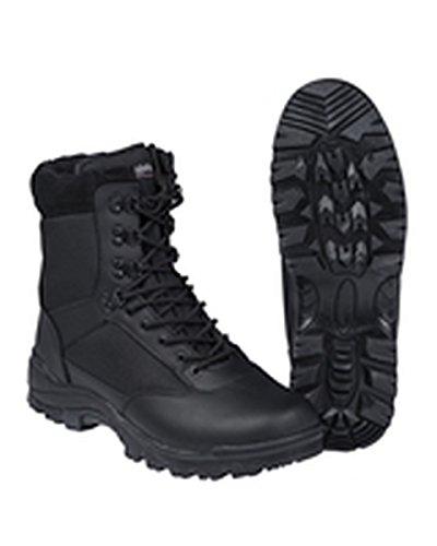 Mil-Tec SWAT Stivali Nero Stivali da Lavoro Scarpa da Trekking Montagna di Scarpa Outdoor Scarpe Taglia 37-50, Nero (Nero), 50