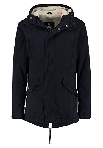 Superdry Herren Eskimo Winter Rookie Military Parka Blu (Dark Navy)