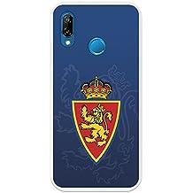 Carcasa Oficial Escudo Real Zaragoza fondo azul Huawei P20 Lite
