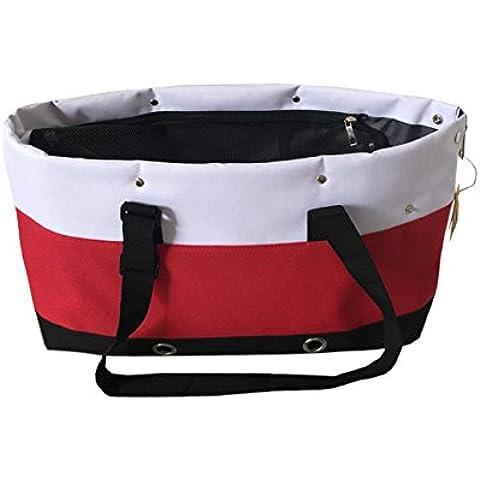 Il colore a contrasto borsa a tracolla gatto cane zaino borsa borsetta rosso, sacchetti di tote, 43cm*16cm*26cm cinturino alto 32cm