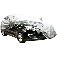 logei® cubierta del coche a prueba de agua lonas llenas de garaje cubierta exterior especial resistente al agua para retrovisor, plata (490 x 180 x 150 cm)