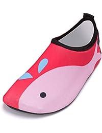 JYDAN Hombres Mujer Zapatos De Agua Secado Rápido Descalzo Playa Calcetines  Antideslizante Surf Buceo… 2b547d0f01b