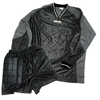 all4you-sportswear Goalkeeper's Jersey with Shorts, Charcoal Grey, Small