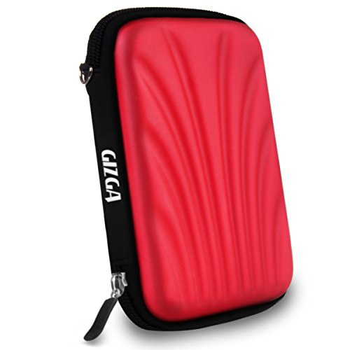 GIZGA Branded 2.5 inch SELF Tattoo SEMI HARD SHELL - Color: Red, External Portable Hard Disk Drive Carry Cover Protector/ Pouch / Bag/HDD Case