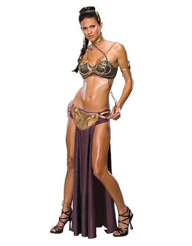 Star Wars Déguisement-Princesse Leia esclave pour femme Déguisement Style 4 Taille M 39–43 (États-Unis), Buste : 91–96 cm, Taille 27–30