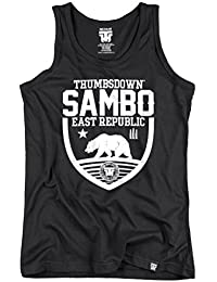Sambo East Republic Tank Top. Vest. Polar Bear. Thumbsdown Last Fight. Gladiator Bloodline. Martial Arts. Fightwear. Training. Casual. Gym. MMA T-shirt