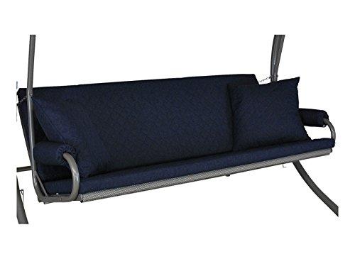Angerer 42022/210 Elegance Joy Schaukelauflage, 3-Sitzer Design, marineblau