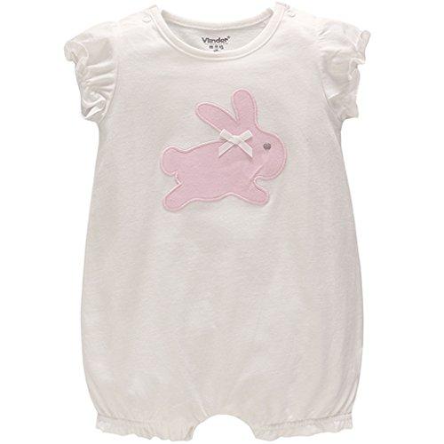 JiAym Baby Sommer Spieler Strampler Mädchen Baby-Schlafanzüge Kaninchen Outfits 6-9 Monate -