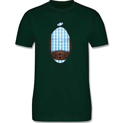 Oktoberfest Herren - Super-Lederhosen - Herren Premium T-Shirt Dunkelgrün