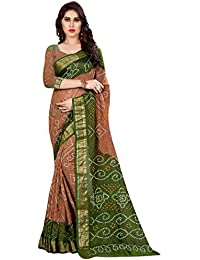 Bandhani Saree(Famaous Rajasthani Bandhani Print Saree With Blouse By Roop Craft)