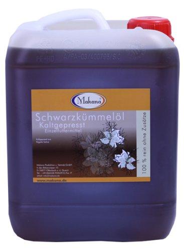 Makana Schwarzkümmelöl für Tiere, kaltgepresst, 5 Liter Kanister, 1er Pack (1 x 5 L)