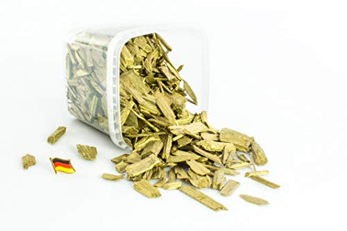 INNA Glas Deko Rindenmulch/Holzstücke Hedwig, metallic Gold, 2-10cm, 1,1l Box, Made in Germany - Dekormulch/Deko Mulch - monsterkatz - Mulch Gold