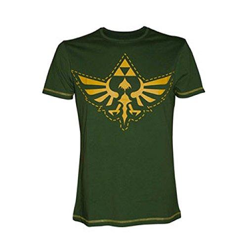 Meroncourt Zelda Logo Design, T-Shirt Uomo, Green, Small (taglia Produttore: Small)