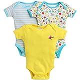 Bumzee Half Sleeves Unisex Baby Bodysuit/Onesies/Rompers Pack of 3