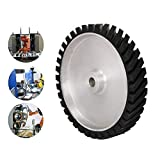 300mm Belt Sander Grinder Rubber Wheel Silver errated Wheel for Making Grinder Hardness 65 degrees