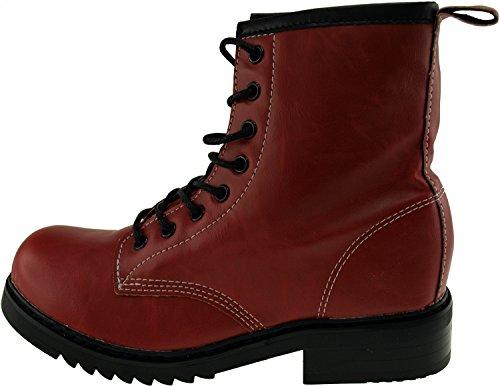 Maxstar  303-Walker, Chaussons montants femme Rouge - Bordeau