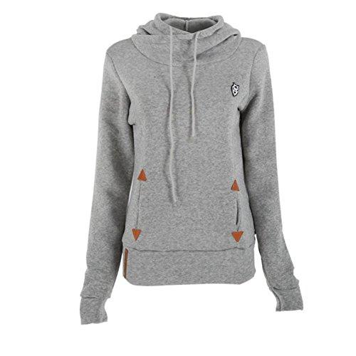 mttroli Frauen Pullover Hoodie Wasserfallkragen Sweatshirt Hood long sleeve Jacken Mäntel (Baker Mantel Cashmere)