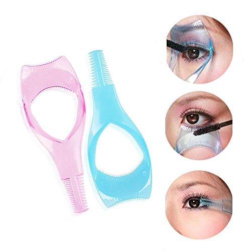 HERME 2-in Kosmetik Make-up Wimpernformer Guard Applikator Kamm Mascara Pinsel