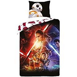 Disney Star Wars–Juego de cama 100% algodón–Funda nórdica reversible + funda de almohada