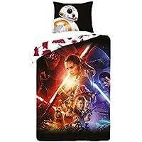 Disney Star Wars–Juego de cama 100% algodón–Funda de edredón Reversible + funda