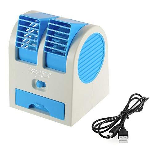 Brezzycloud Mini Portable Dual Bladeless Air Cooling USB Desktop Fan (Multi Color)