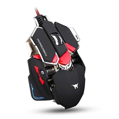 Auska 3500dpi 9d Boutons mécanique filaire Gaming Mouse noir