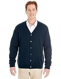 Harriton mens Pilbloc V-Neck Button Cardigan Sweater (M425)