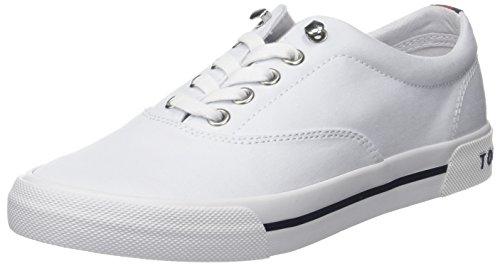 Tommy Hilfiger Damen Heritage Textile Sneaker, Weiß (White 100), 40 EU