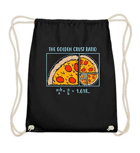 EBENBLATT Pizza Liebhaber Fast Food Pizzabäcker Pizzateller Salami lecker jummy lustiges Geschenk - Baumwoll Gymsac