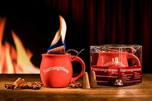 Feuerzangentasse 1er-Set, rot - smart - ohne Rum (Acrylbox)