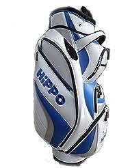 Hippo Golf Sac de golf chariot Sac Matériau imperméable et sec Poche–Blanc/Bleu