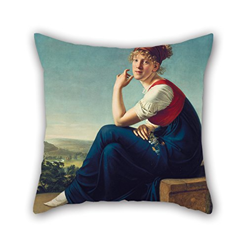 slimmingpiggy-throw-pillow-covers-of-oil-painting-gottlieb-schick-heinrike-danneckerfor-saloonfather