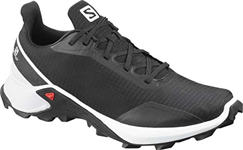 Salomon ALPHACROSS, Scarpe da Trail Running, Uomo, Nero (Black/White/Monument), 44 EU