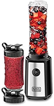 Black+Decker 300W 6 Piece Personal Sports Blender, Black - SBX300-B5