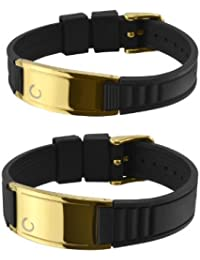Zenturio Titanium Magnetarmband Original Gelbgold Küsst Edition 24K vergoldet