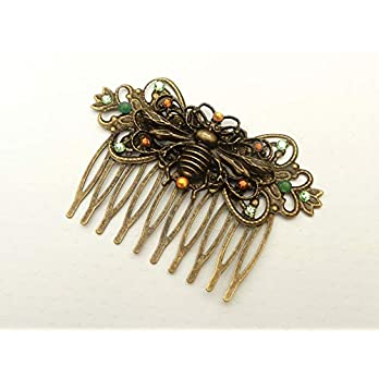 Haarkamm mit Bienen Ornament Sommer Haarschmuck