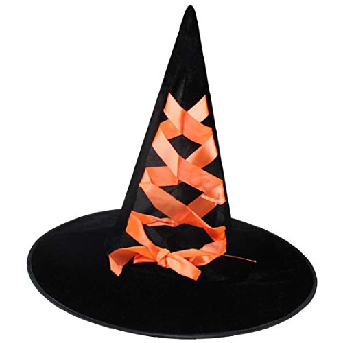Orange Genie Kostüm - Bontand Halloween Flanell Dekorative Hexe Kreative Cosplay Hexe Hüte Für Partei Festliche Maskerade Halloween Hexenhut