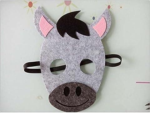 Children's Christmas nativity donkey full face felt