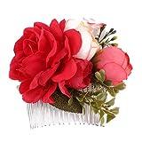 Uzinb Six Couleurs Tissu Art Fleur mariée Hairpin Couvre-Chef de Fer Coiffe Accessoires Cheveux Bijoux de Mariage