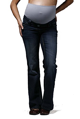 Distressed Indigo Maternity Jeans: Over the Bump, (Available in 3 leg lengths), SIZES 8 10 12 14 16 18 20 22, Pregnancy Pants Test