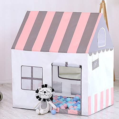 d Zelt Spiel Haus Haushalt Pfirsich Flusen PVC Kunststoff Stange Tipi Junge Mädchen Prinzessin Kleines Haus Kind Spielzeug Zimmer Baby Haus Tragen Fall Für Indoor Outdoor Kid 1+ ()