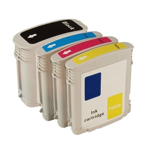 4 Colour Direct Compatible Ink Cartridges Replacement For HP 10/11 XL Designjet 10PS 20PS 70 100 100+ 110+ 50PS 500 500PS 800 800PS Business Inkjet 1000 1100 1200 2000C 2200 2230 2250 2280 2600 2600dn 2700 2800 Color Inkjet Printers cp1700 2000c 2000cn 2500c 2500cm Officejet Pro K850 9100 9110 9120 9130