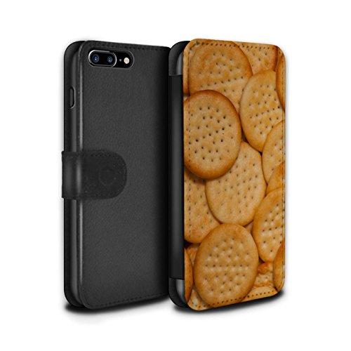 Stuff4 Coque/Etui/Housse Cuir PU Case/Cover pour Apple iPhone 7 Plus / Noix de cajou Design / Casse-Croûte Collection Mini Cheddars