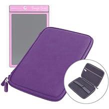 """Etui coque violet résistant et rigide pour tablette Boogie Board Tablette 8.5 pouces et MpMan MPDC88, MID84C & MP843 8""""- fermeture éclair"""