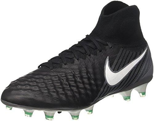 Nike Magista Obra Ii Fg, Botas de Fútbol para Hombre, Negro Black/White/Dark Grey/Stadium Green...
