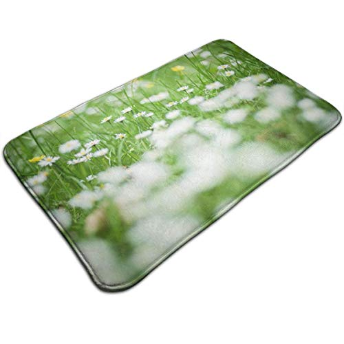 Uosliks Grüne und weiße Blumen-Unkraut-Wurfs-Bereichs-Grundmatten-Willkommens-Eingangs-Teppich-Küchen-Badezimmer-Boden-Partei-Teppich - Elfenbein Blumen-bereich Teppich