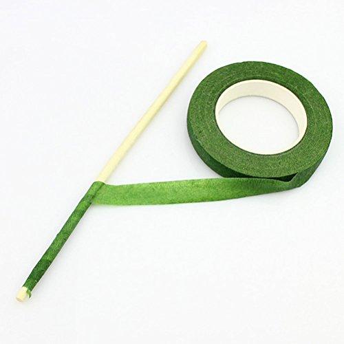 ULTNICE Verde fiorista nastro adesivo nastro per Bouquet staminali Wrap